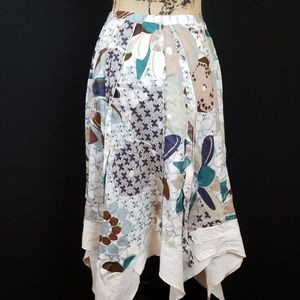 Animale Skirts - Animale hanker scarf patchwork skirt M206:6:819